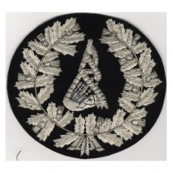 Hand Embroidered Pipe Major Bagpipe Badge