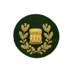 Pipe Band Drum Major Embroidery Badge