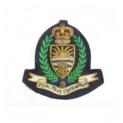 Antigua Police Embroidery Cap Badge