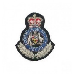 Common Wealth Police Embroidery Cap Badge
