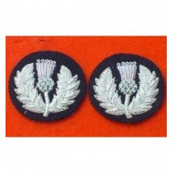 Scots Guard Mess Dress Collar Embroidery Badge