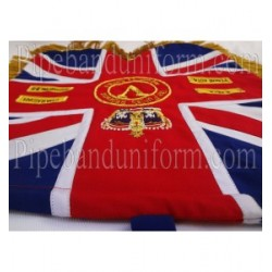 Custom Made Hand Embroidered Blue Pipe Band Banner