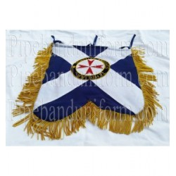 Custom Made Hand Embroidered Blue Scottish Knight Banner