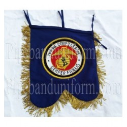 Custom Made Hand Embroidered Blue Marine Corps League Banner