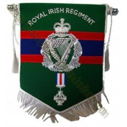 Custom Made Hand Embroidered Green Military Regiment Banner