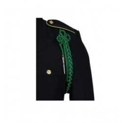 Army Kelly Green Shoulder Cord With Silver Tip