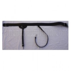 Black Leather Pipers Drummers Sword Belt with Silver Buckles