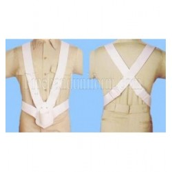 """Parade Flag White Leather Carrier 2"""" Double Web Belt"""
