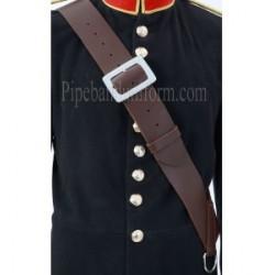Brown Leather Side/Tenor Drum Sling Cross Belt