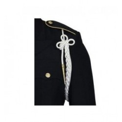 Army White Shoulder Cord With Brass Tip