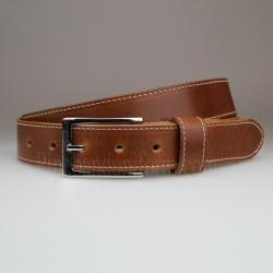 Blue Business Belt with Slimline Nickel Buckle 30mm Width