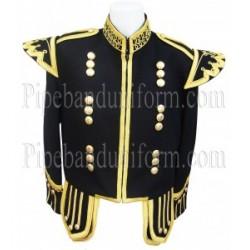 Black Pipe Band Doublet Scottish Jacket
