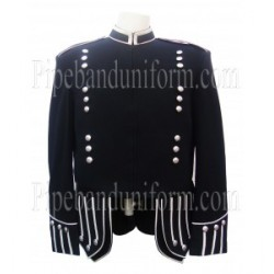 Black Pipe Band Doublet Uniform Jacket