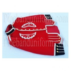 Red Pipe Band Doublet Uniform Jacket