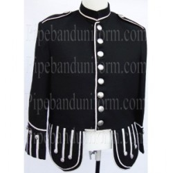 Black Pipe Band Doublet Kilt Jacket