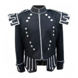 Black Scots Guards Pipe Band Doublet Jacket