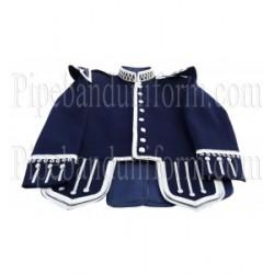 Blue Pipe Band Doublet Scottish Jacket