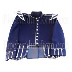 Royal Blue Pipe Band Doublet Uniform Jacket