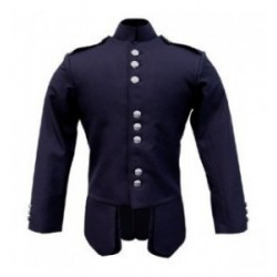Navy Blue Scots Guards Pipe Band Doublet Jacket