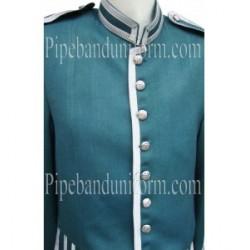 Green Piper Drummer Doublet Uniform Jacket