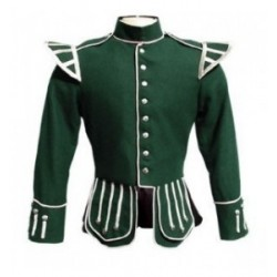Green Pipe Band Doublet Scottish Jacket