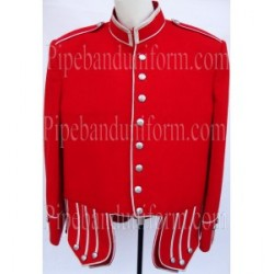 Red Pipe Band Doublet Military Jacket