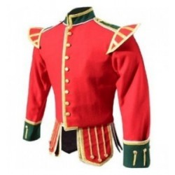 Red Pipers Drummers Band Doublet Jacket
