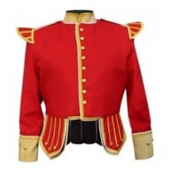 Red Pipe Band Tunic Doublet Jacket