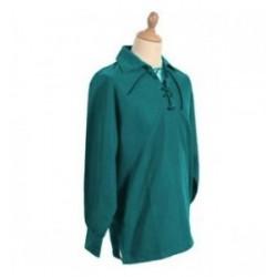 Green Jacobite Ghillie Kilt Cotton Shirt