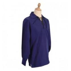 Blue Jacobite Ghillie Kilt Cotton Rich Shirt