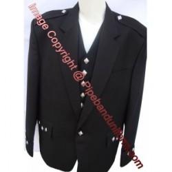 Black Argyll Kilt Jacket