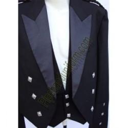 Black Prince Charlie Kilt Jackets Without Waistcoat