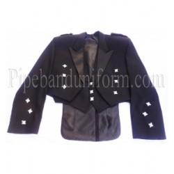 Black Prince Charlie Kilt Jacket - Long Tailed