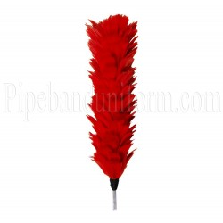 British Army - Red Feather Plume / Hackle
