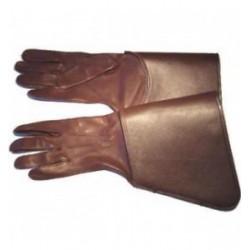Drum Major Gauntlets - Leather Brown Gloves