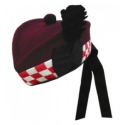 Piper Airborne Maroon Diced Glengarry