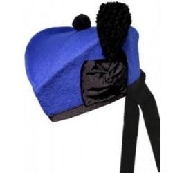 Royal Blue Plain Piper Glengarry