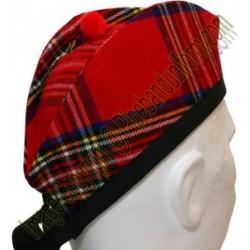 Royal Stewart Tartan Piper Glengarry