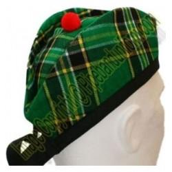Irish Green Tartan Piper Glengarry