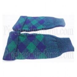Blue Green Piper Drummer Hose Tops- Half Hoses
