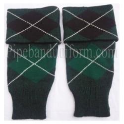 Black Green Diced Pipe Major Hose Tops - Half Hoses