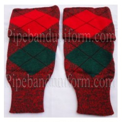 Red Green Diced Pipe Major Hose Tops - Half Hoses