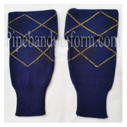 Black and Blue Hose Tops - Yellow Lining