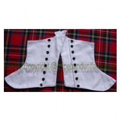 Pipe Band Black Buttons Spats - Gaiters