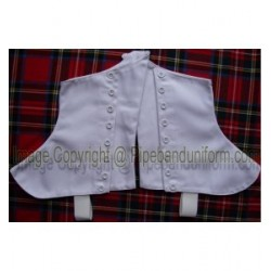 Pipers Drummer White Buttons Spats - Gaiters