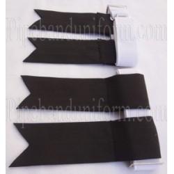 Black Kilt Band Flashers/Flashes - Garters
