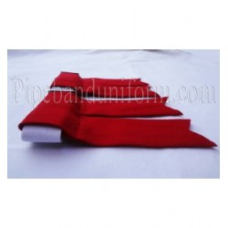 Red Pipe Band Kilt Flashers/Flashes - Garters