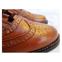 Military Brown Leather Band Ghillie Brogue Shoes