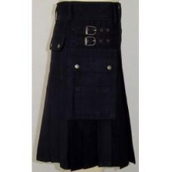 Short Cotton Kilt in Blue