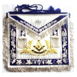 Embroidered Grand Lodge Past Master Blue Masonic Apron